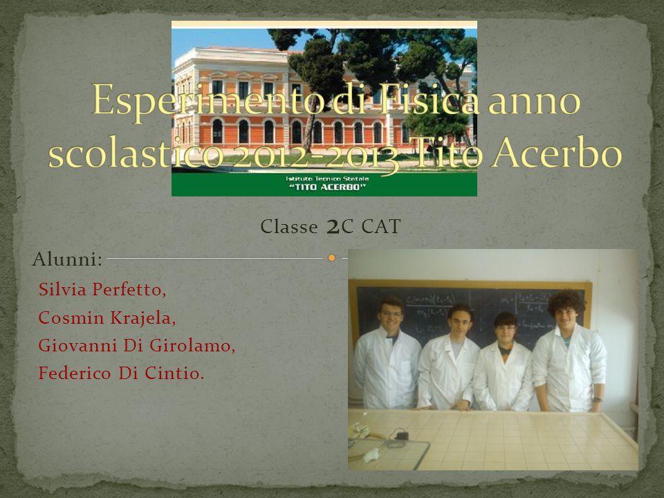 Classe 2 C CAT Alunni: Silvia Perfetto, Cosmin Krajela, Giovanni Di Girolamo, Federico Di Cintio.