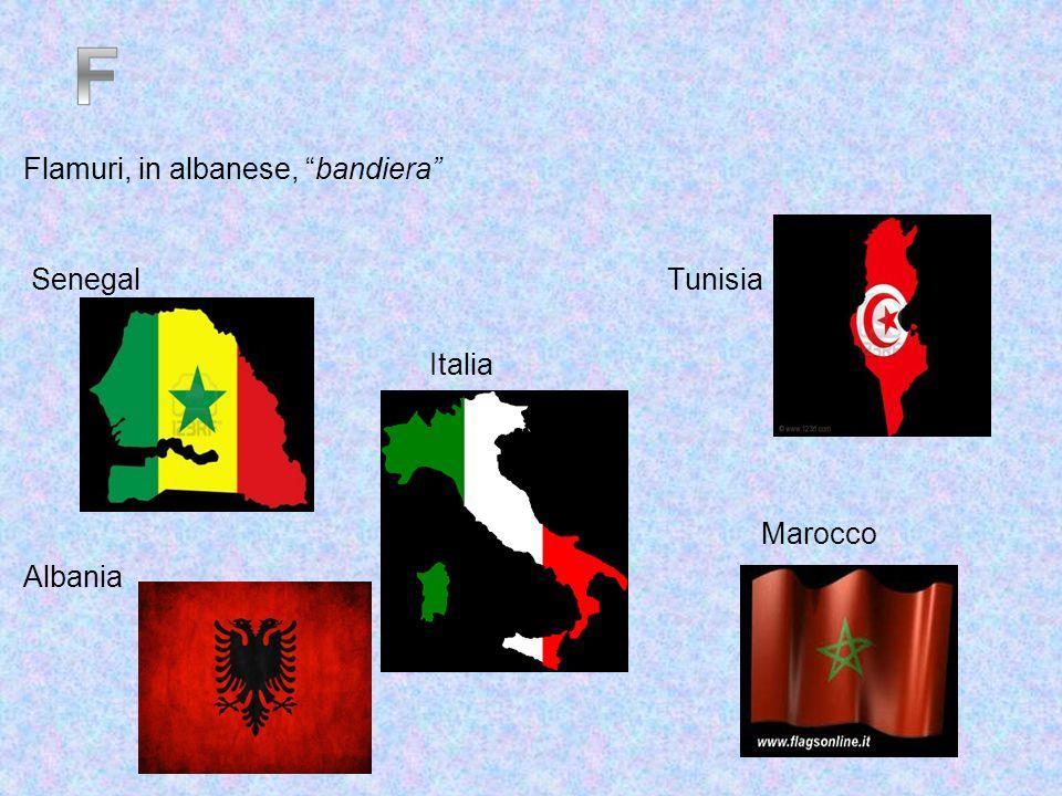 Flamuri, in albanese, bandiera Senegal Tunisia Italia Marocco Albania
