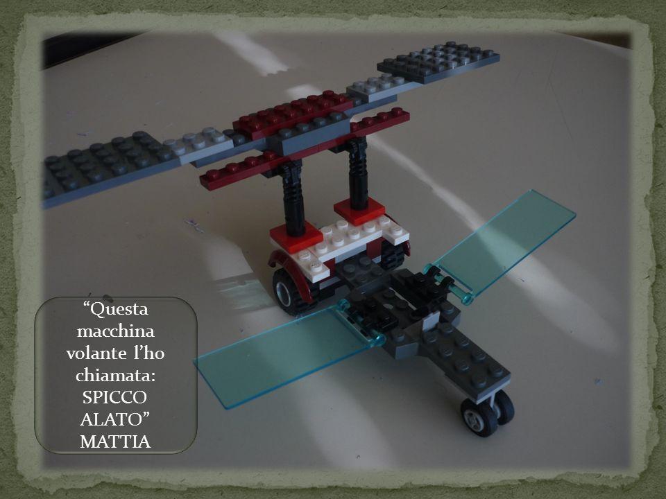 Questa macchina volante lho chiamata: SPICCO ALATO MATTIA