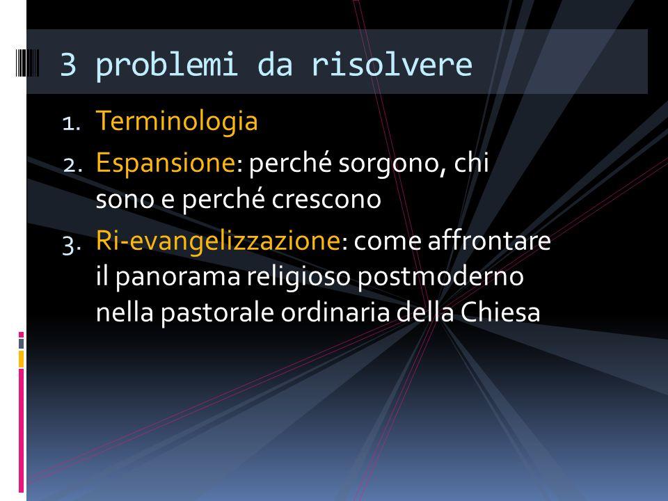 Terminologia Sette.Dottrine erronee. Sette protestanti.