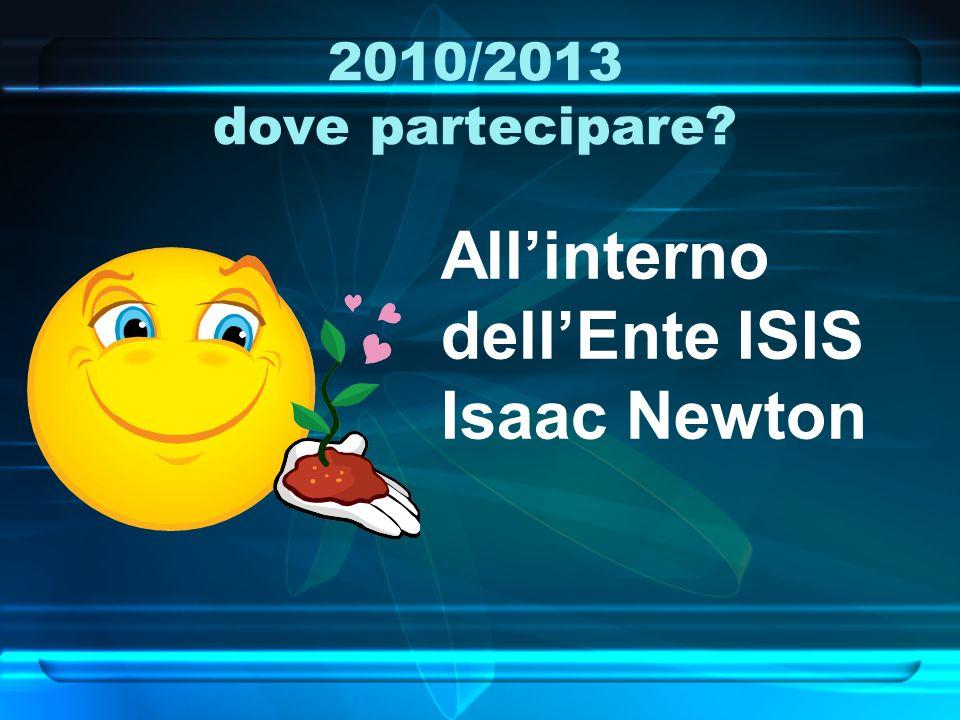 2010/2013 Come partecipare? Attivandosi seguendo gli obiettivi
