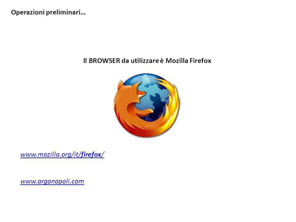 Il BROWSER da utilizzare è Mozilla Firefox www.mozilla.org/it/firefox/ www.argonapoli.com Operazioni preliminari…