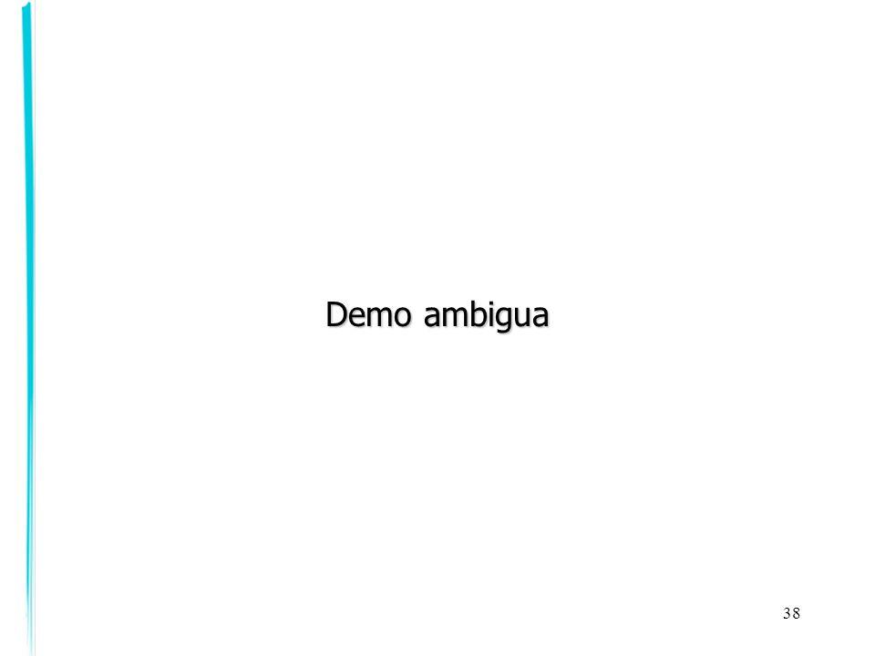 38 Demo ambigua