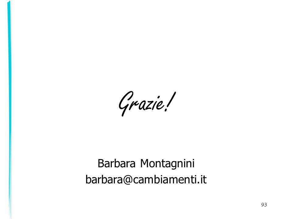 Grazie! Barbara Montagnini barbara@cambiamenti.it 93