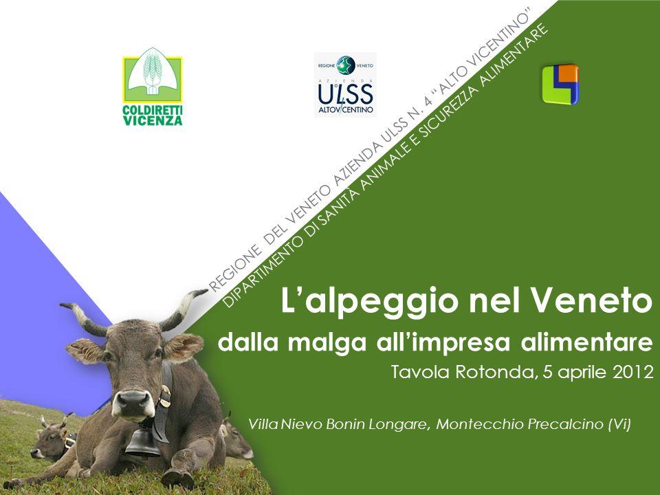 REGIONE DEL VENETO AZIENDA ULSS N. 4 ALTO VICENTINO DIPARTIMENTO DI SANITÀ ANIMALE E SICUREZZA ALIMENTARE Villa Nievo Bonin Longare, Montecchio Precal