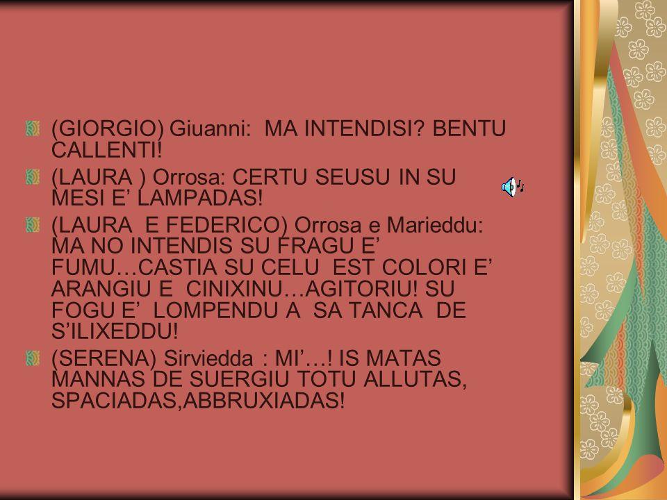 (MATTIA )Peppineddu ( sezziu in sa muredda cun Dariu) TOCCA CA FIESU SU JOGU DE SU BARRALLICU … (5) ( JONATHAN) Dariu: MA CALI FUNTI IS ARRÈGULAS DE SU JOGU.