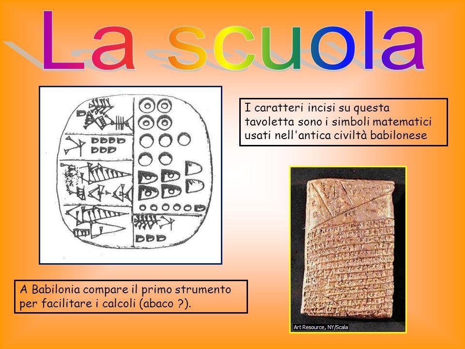A Babilonia compare il primo strumento per facilitare i calcoli (abaco ?).
