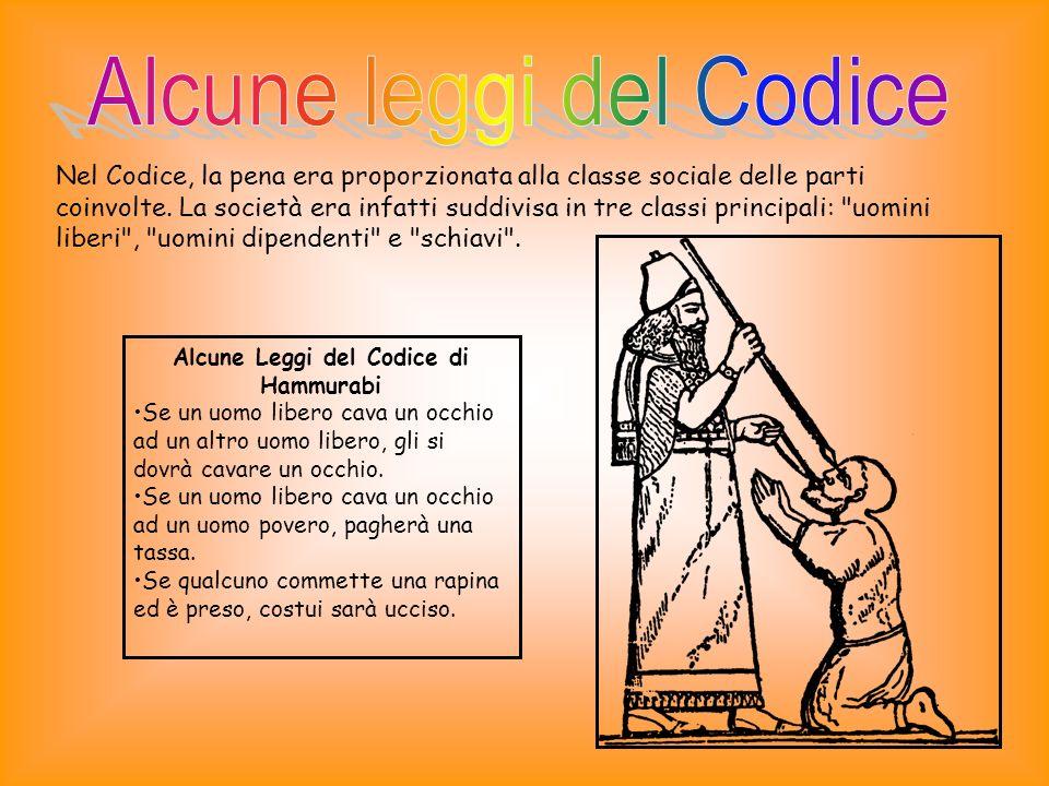 Alcune Leggi del Codice di Hammurabi Se un uomo libero farà cadere un dente ad un uomo libero, si farà cadere il suo dente.