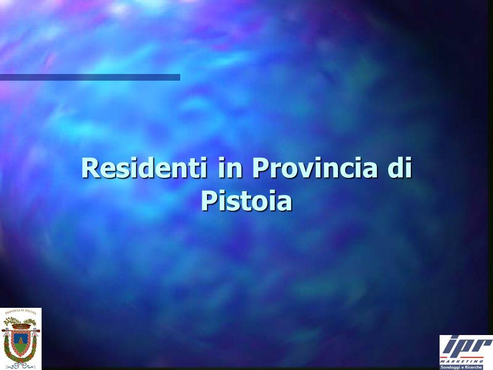 Residenti in Provincia di Pistoia