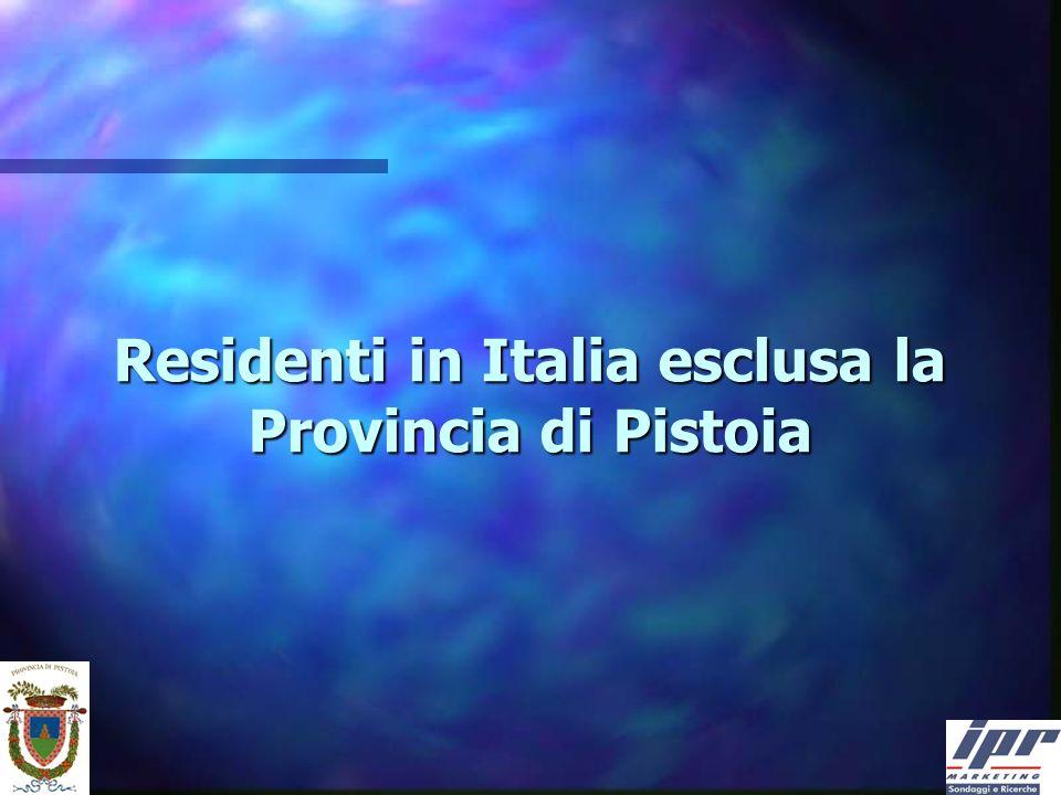 Residenti in Italia esclusa la Provincia di Pistoia