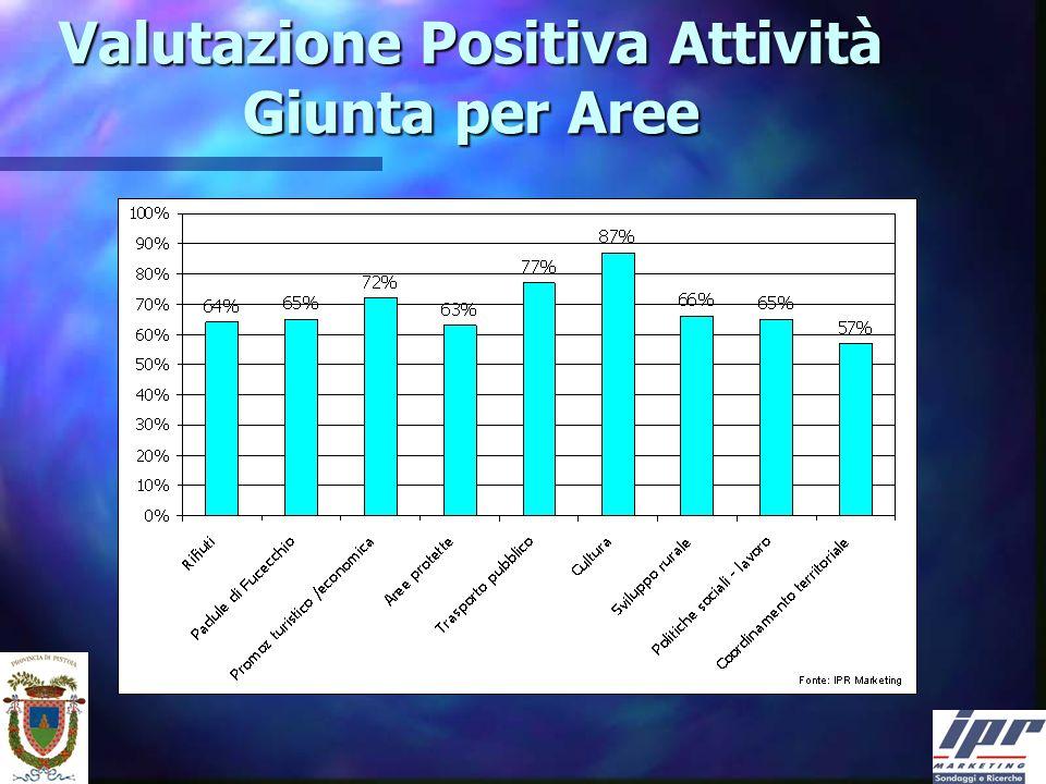 Valutazione Positiva Attività Giunta per Aree