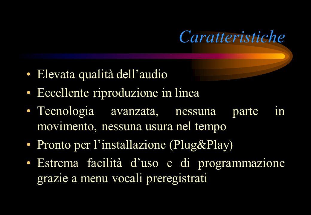 Caratteristiche Elevata qualità dellaudio Eccellente riproduzione in linea Tecnologia avanzata, nessuna parte in movimento, nessuna usura nel tempo Pr