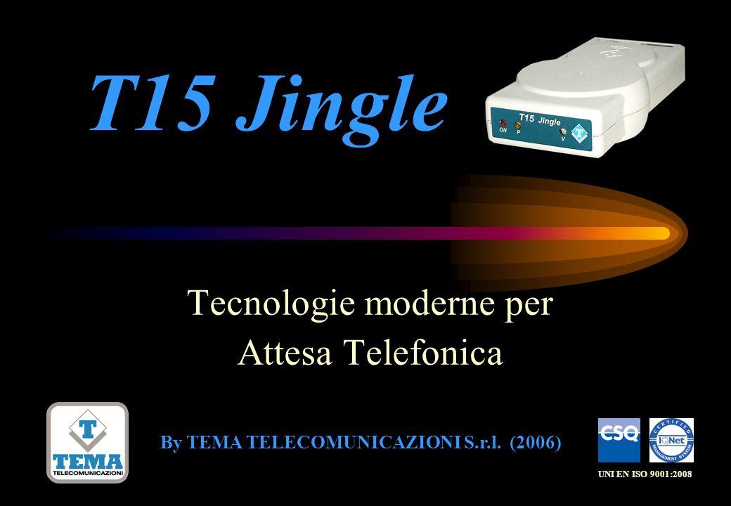 Tecnologie moderne per Attesa Telefonica By TEMA TELECOMUNICAZIONI S.r.l. (2006) UNI EN ISO 9001:2008 T15 Jingle