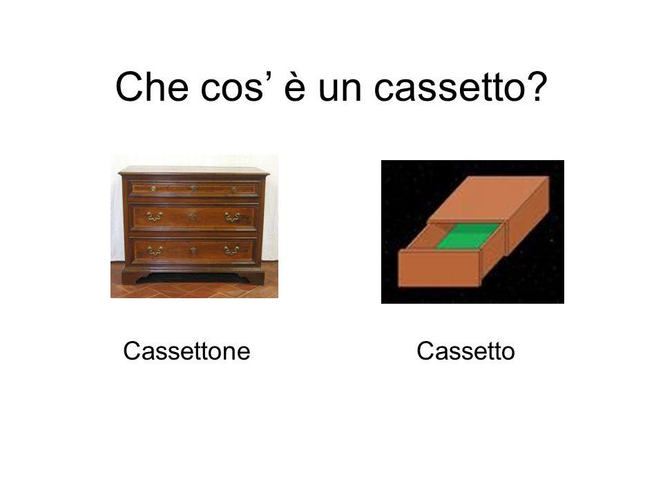 Che cos è un cassetto? Cassettone Cassetto