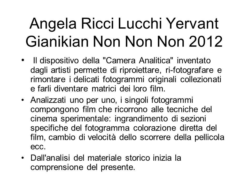 Angela Ricci Lucchi Yervant Gianikian Non Non Non 2012 Il dispositivo della
