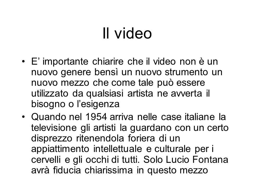 Il video E importante chiarire che il video non è un nuovo genere bensì un nuovo strumento un nuovo mezzo che come tale può essere utilizzato da quals