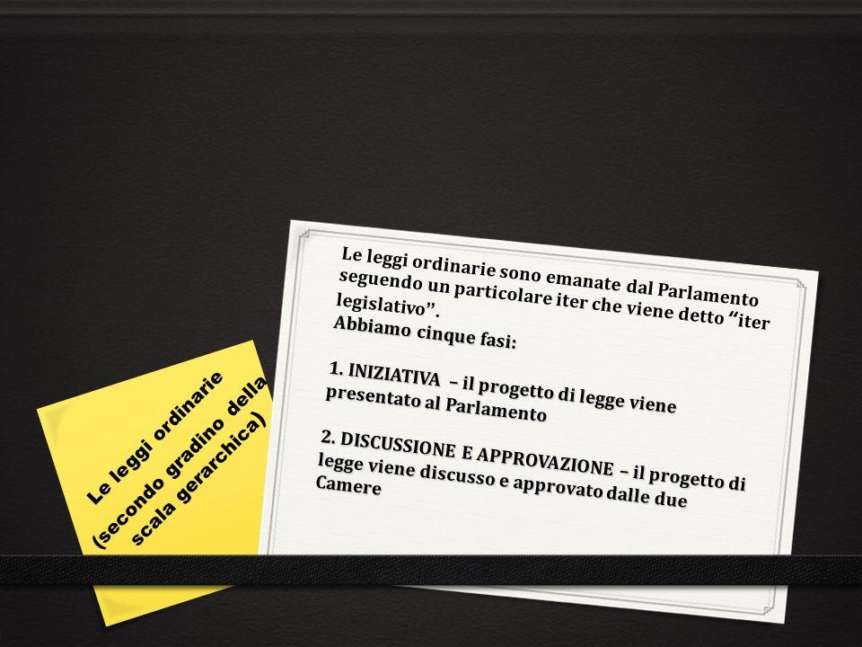 3.PROMULGAZIONE – il testo di legge viene firmato dal Presidente della Repubblica 4.