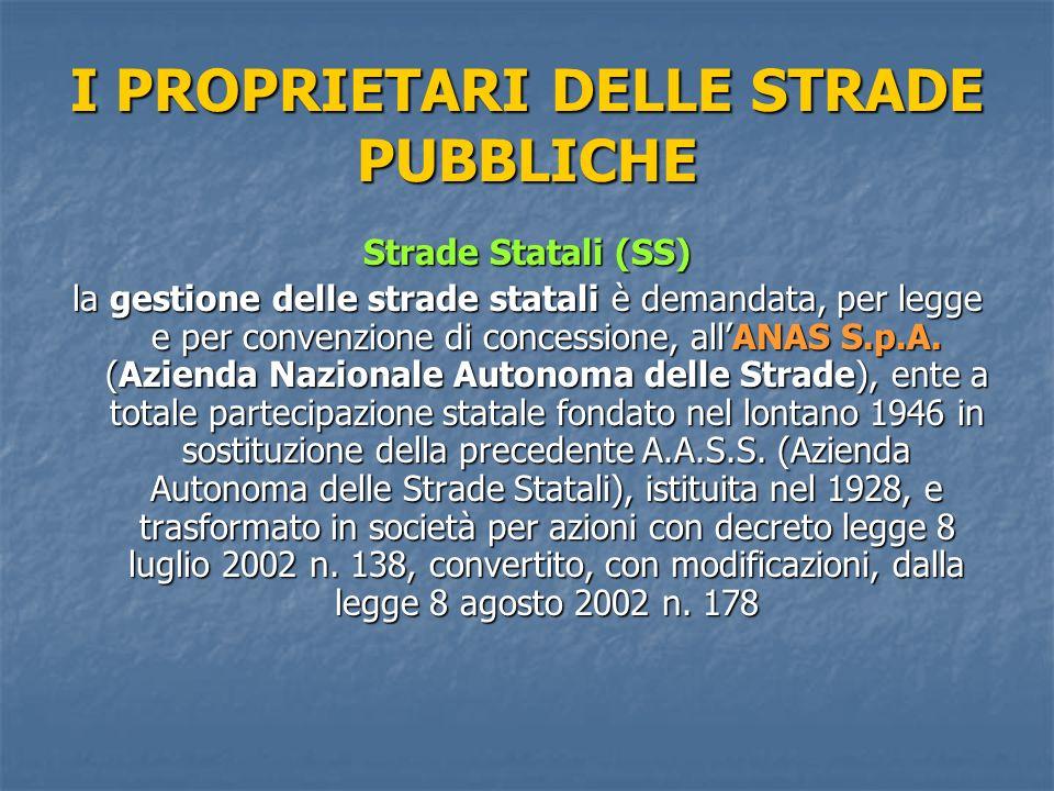I custodi delle strade pubbliche per quanto concerne lo Stato e dunque il demanio stradale nazionale, si noti che allart.