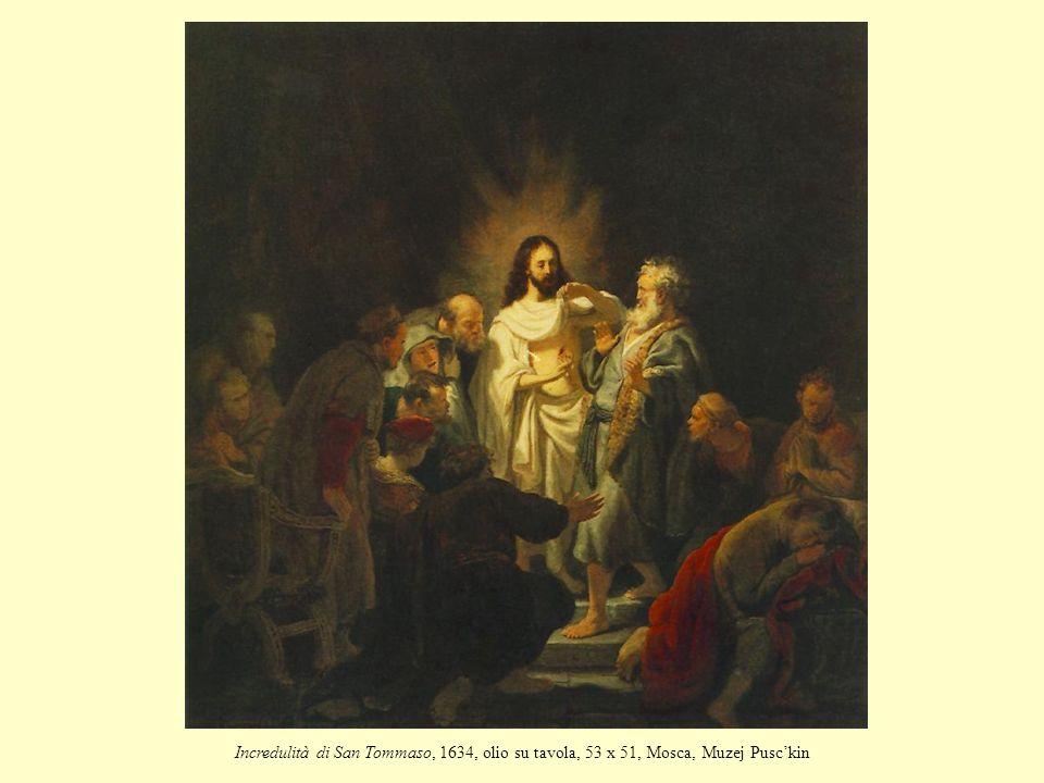 Incredulità di San Tommaso, 1634, olio su tavola, 53 x 51, Mosca, Muzej Pusckin