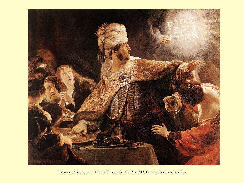 Il festino di Baltassar, 1635, olio su tela, 167.5 x 209, Londra, National Gallery