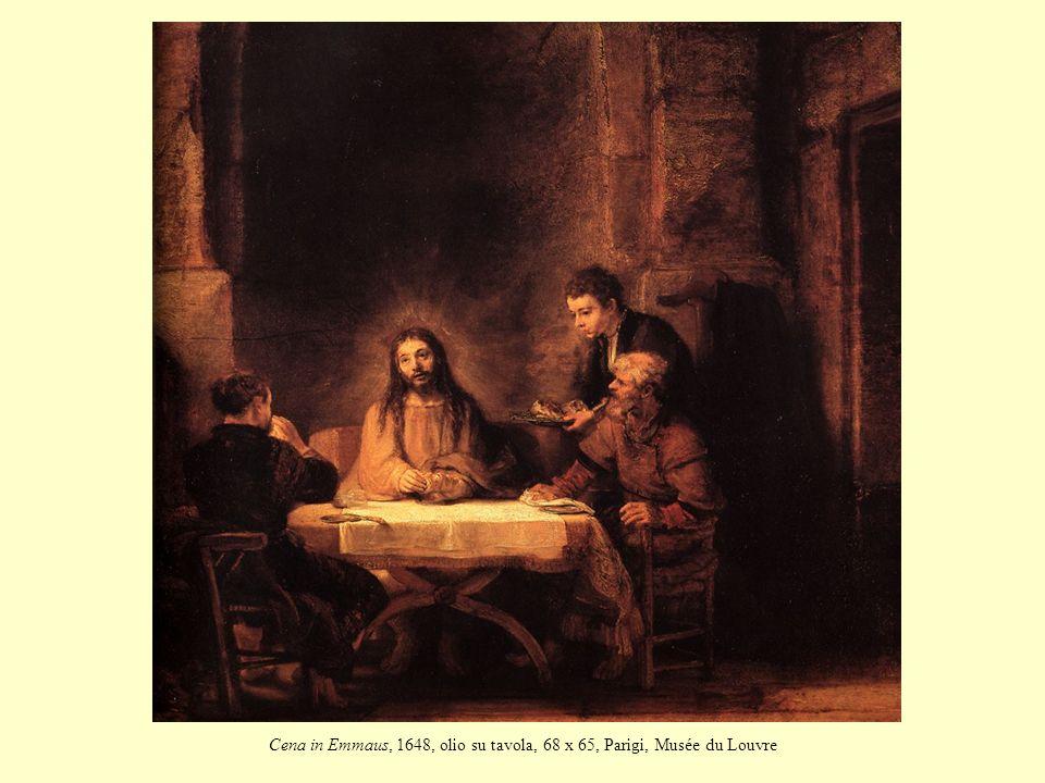 Cena in Emmaus, 1648, olio su tavola, 68 x 65, Parigi, Musée du Louvre