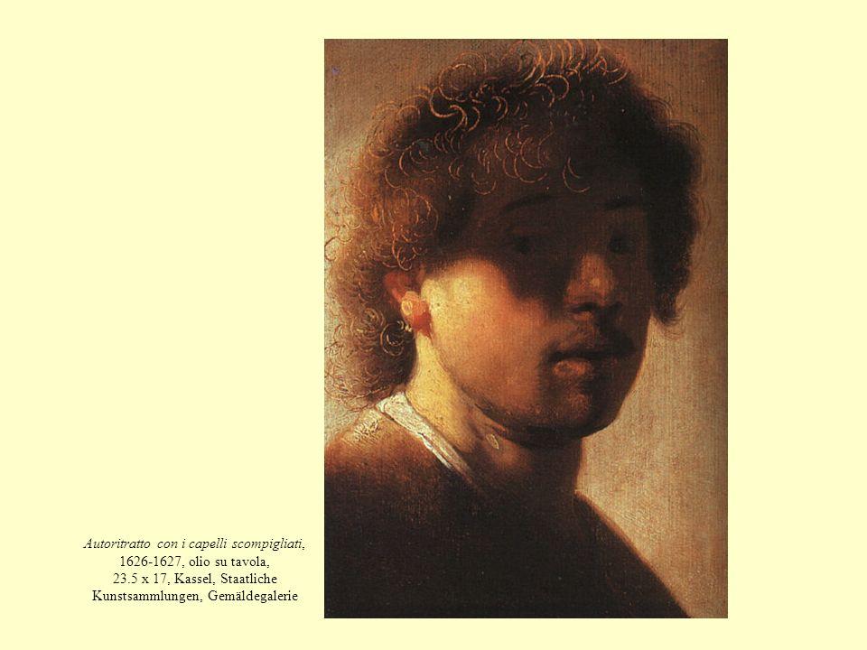 Autoritratto con i capelli scompigliati, 1626-1627, olio su tavola, 23.5 x 17, Kassel, Staatliche Kunstsammlungen, Gemäldegalerie