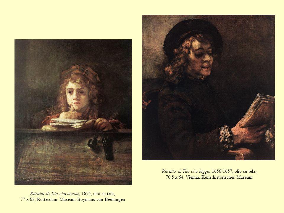 Ritratto di Tito che studia, 1655, olio su tela, 77 x 63, Rotterdam, Museum Boymans-van Beuningen Ritratto di Tito che legge, 1656-1657, olio su tela,
