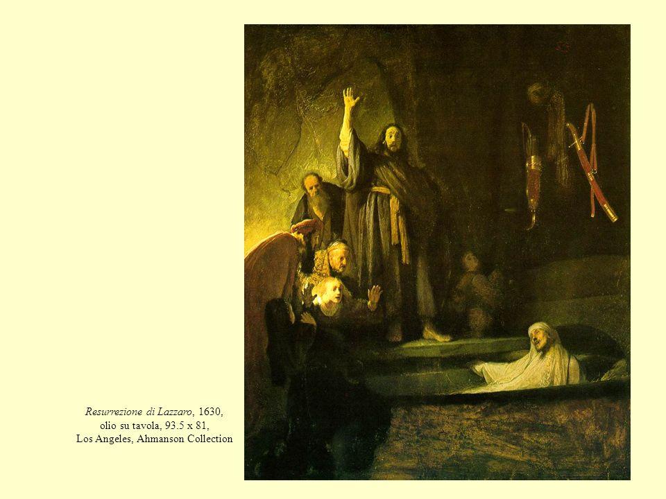 Resurrezione di Lazzaro, 1630, olio su tavola, 93.5 x 81, Los Angeles, Ahmanson Collection