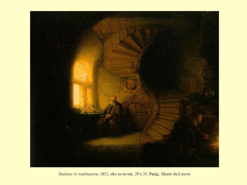 Studioso in meditazione, 1631, olio su tavola, 29 x 33, Parigi, Musée du Louvre