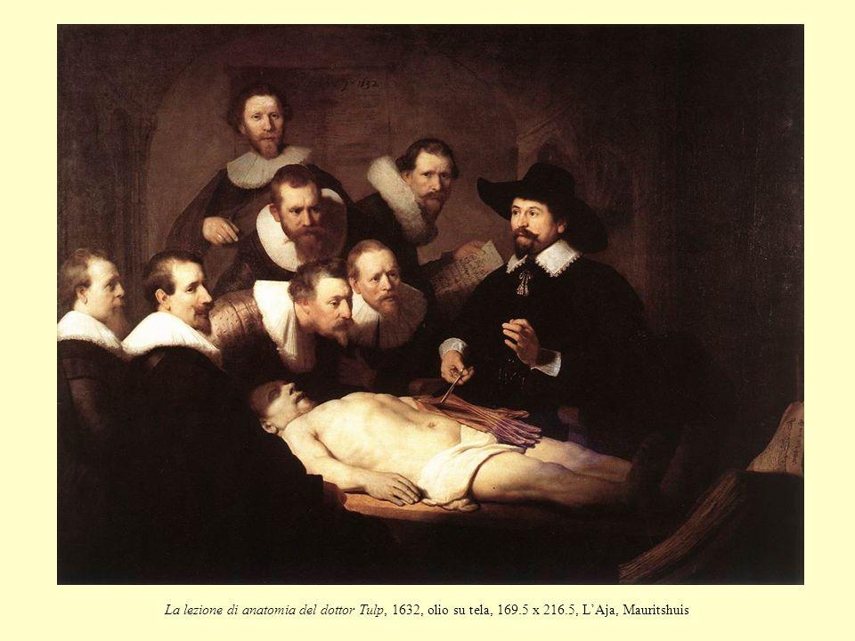 La lezione di anatomia del dottor Tulp, 1632, olio su tela, 169.5 x 216.5, LAja, Mauritshuis