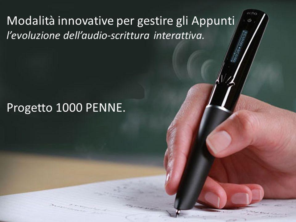 Modalità innovative per gestire gli Appunti levoluzione dellaudio-scrittura interattiva.