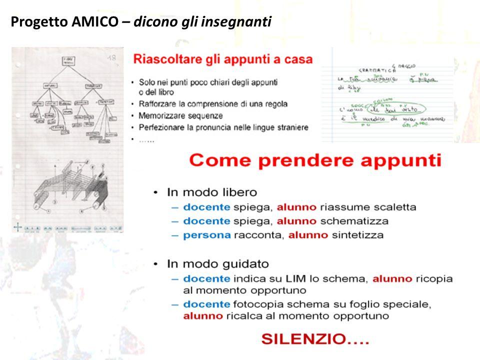 Progetto AMICO – dicono gli insegnanti