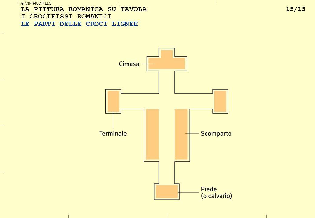 15/15 GIANNI PICCIRILLO LA PITTURA ROMANICA SU TAVOLA I CROCIFISSI ROMANICI LE PARTI DELLE CROCI LIGNEE
