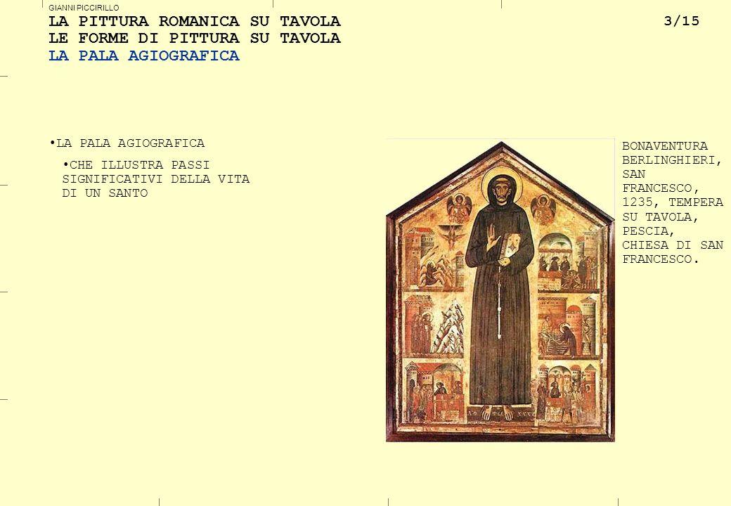 4/15 GIANNI PICCIRILLO LA PITTURA ROMANICA SU TAVOLA LE FORME DI PITTURA SU TAVOLA IL PALIOTTO IL PALIOTTO (O ANTEPENDIUM) (DAL LATINO PALIUM, VELO ) RIVESTIMENTO DELLA PARTE ANTERIORE DELL ALTARE.