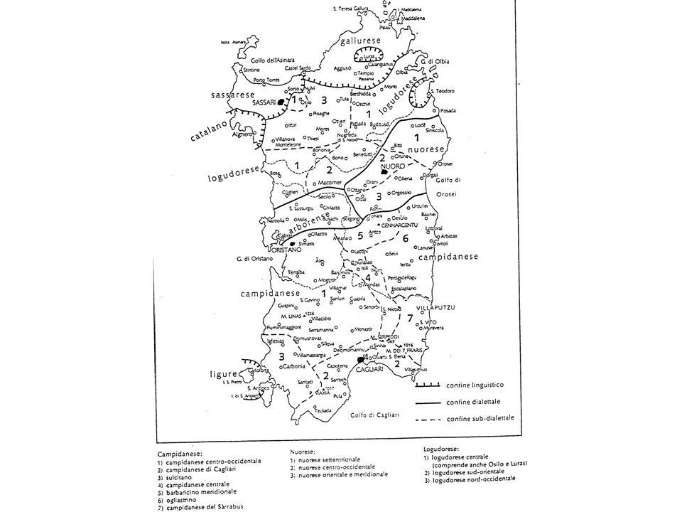 Consonantismo del sardo Circa il consonantismo del sardo, nei testi più antichi della fine dellXI sec. esso presenta, in generale, poche variazioni ri