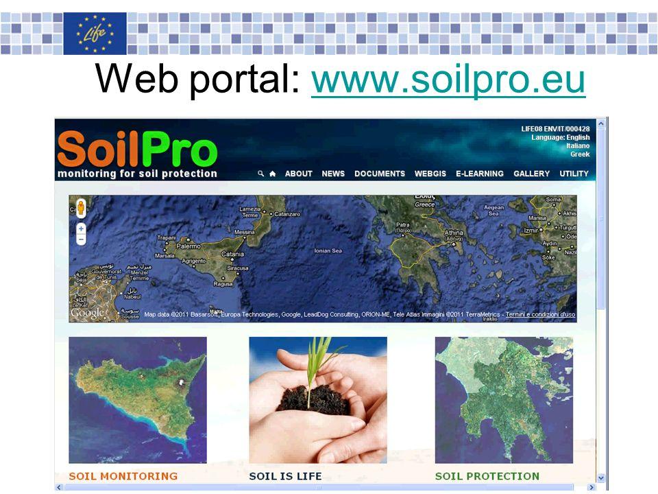 Web portal: www.soilpro.euwww.soilpro.eu