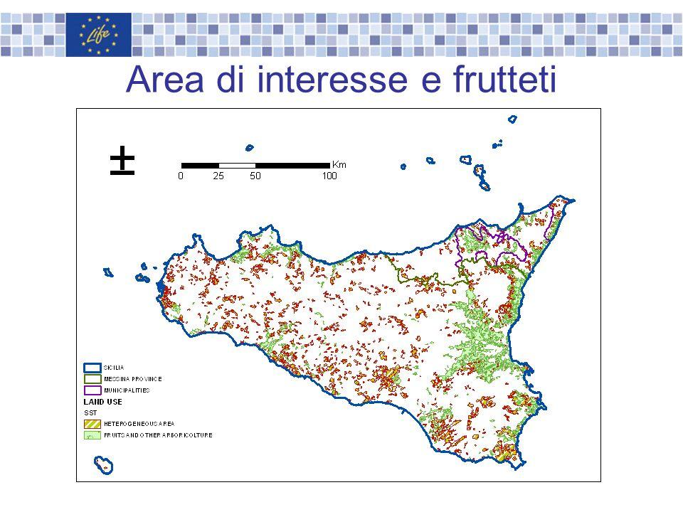 Area di interesse e frutteti