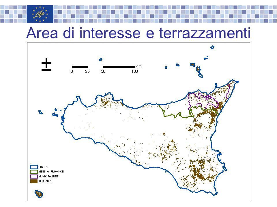 Area di interesse e terrazzamenti