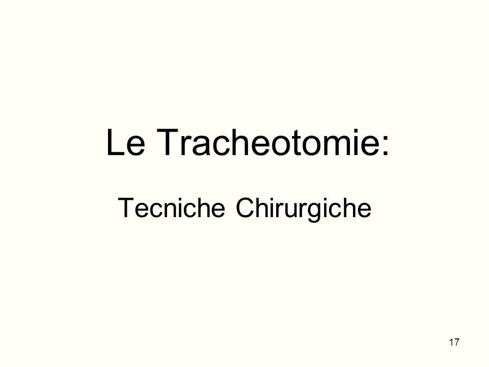 Le Tracheotomie: Tecniche Chirurgiche 17