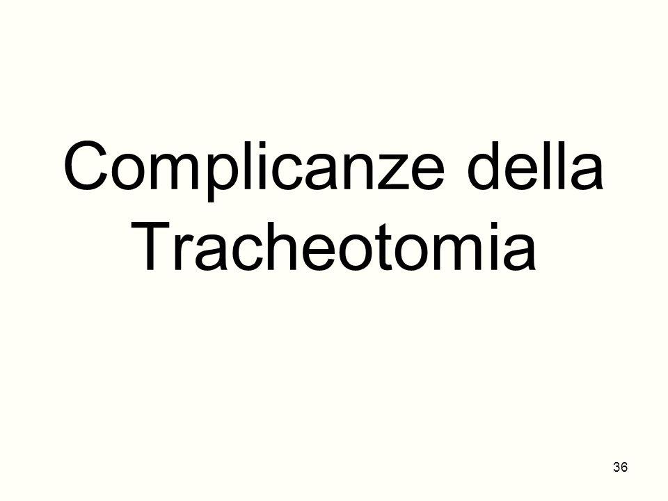 Complicanze della Tracheotomia 36