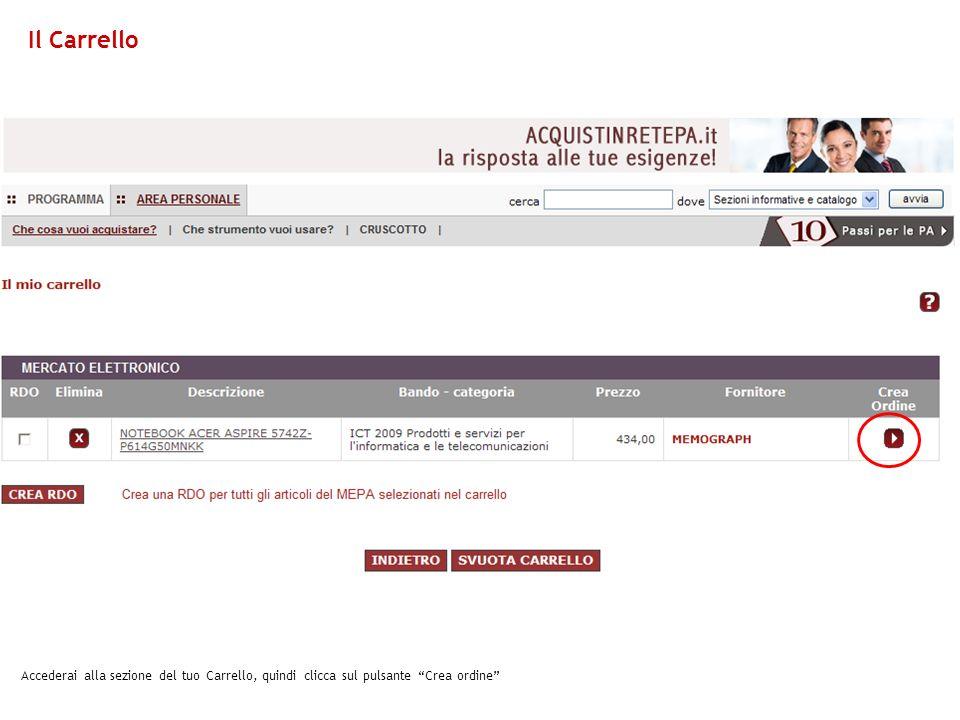 In questa schermata visualizzi la sezione della Ricerca Ordini, da cui puoi scaricare il documento.pdf e firmarlo digitalmente Ricerca Ordini
