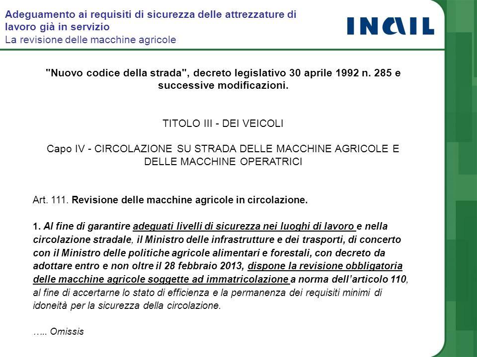 Nuovo codice della strada , decreto legislativo 30 aprile 1992 n.