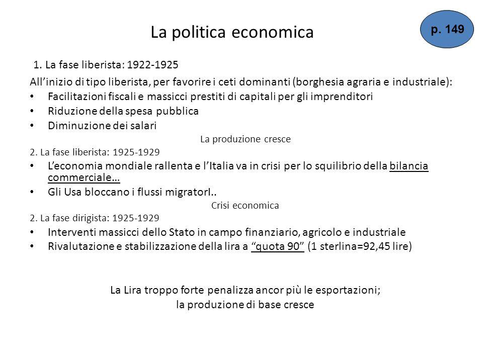 I Patti Lateranensi o Concordato (1929) Per accrescere il suo consenso Mussolini decise di trovare una conciliazione con la Chiesa 11 febbraio 1929: P