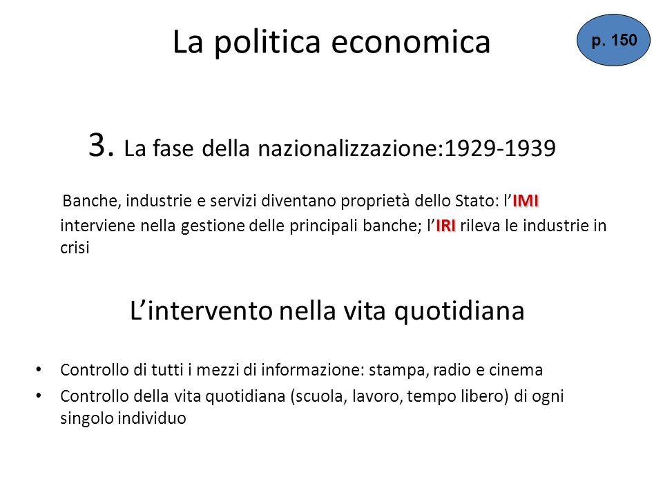 La politica economica Allinizio di tipo liberista, per favorire i ceti dominanti (borghesia agraria e industriale): Facilitazioni fiscali e massicci p