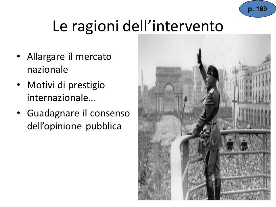 La politica estera italiana Il 3 ottobre 1935 inizia linvasione militare dellEtiopia (del negus Hailè Selassiè) Fu una spedizione enorme di quasi mezz