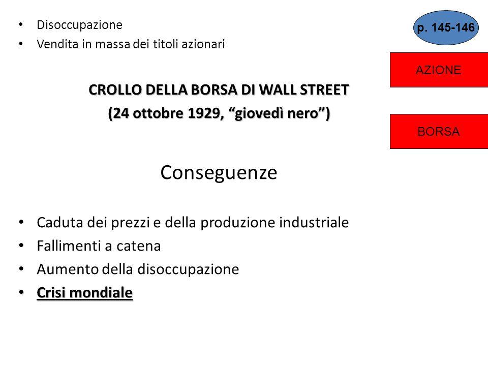 Le contraddizioni economiche 1.Gli industriali decidono di tenere bassi i salari dei lavoratori riduzione dei consumi 2.Drastica riduzione delle espor