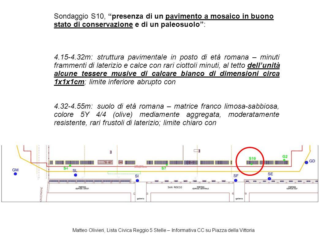 Matteo Olivieri, Lista Civica Reggio 5 Stelle – Informativa CC su Piazza della Vittoria Sondaggio S10, presenza di un pavimento a mosaico in buono sta