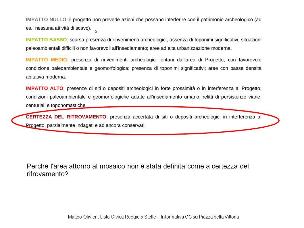 Matteo Olivieri, Lista Civica Reggio 5 Stelle – Informativa CC su Piazza della Vittoria Perchè l'area attorno al mosaico non è stata definita come a c