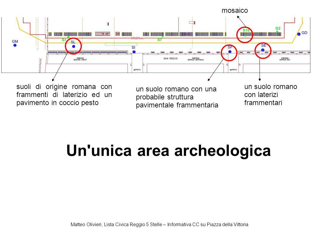 Matteo Olivieri, Lista Civica Reggio 5 Stelle – Informativa CC su Piazza della Vittoria mosaico suoli di origine romana con frammenti di laterizio ed
