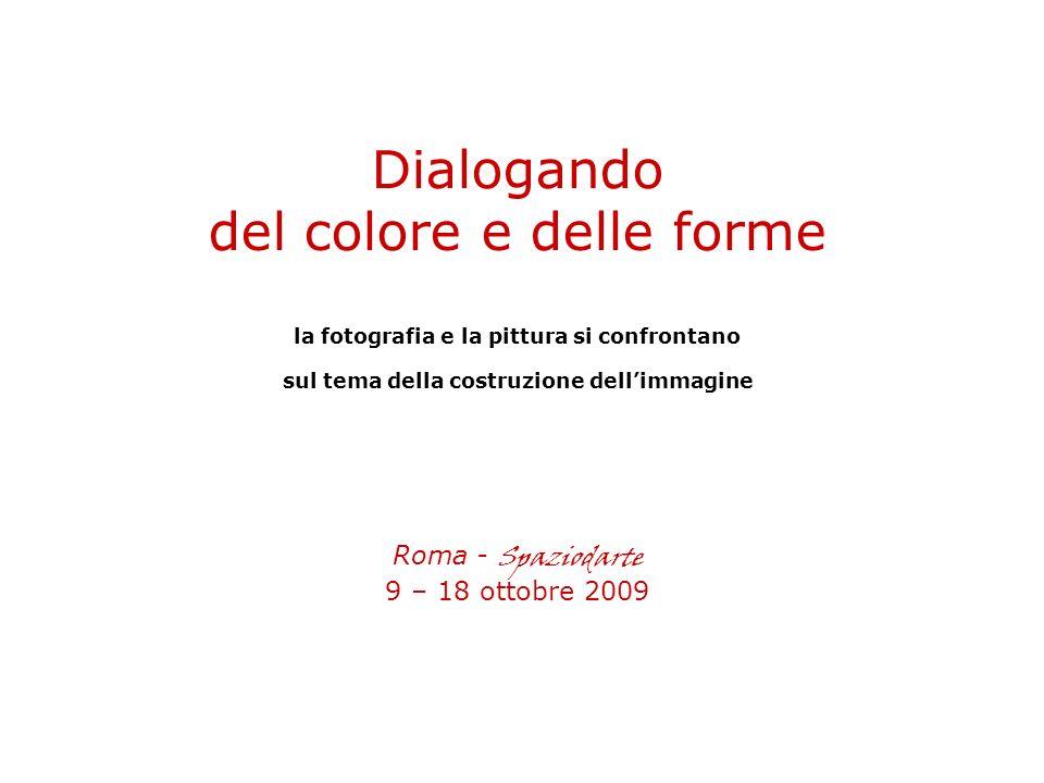 Dialogando del colore e delle forme la fotografia e la pittura si confrontano sul tema della costruzione dellimmagine Roma - Spaziodarte 9 – 18 ottobre 2009